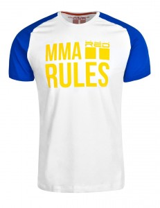 Tričko Double Red MMA Rules Blue/White